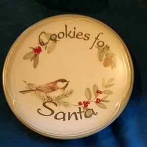 EUC Pfaltzgraff cookies for Santa